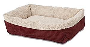 Aspen Pet 80137 Self Warming Rectangular Lounger for Pets, 30 by 24-Inch, Warm Spice with Creme