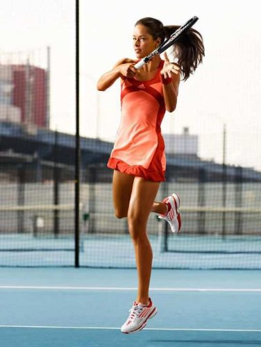 Adidas adizero Womens ClimaCool Formotion Ana Ivanovic Tennis Dress - Peach Red