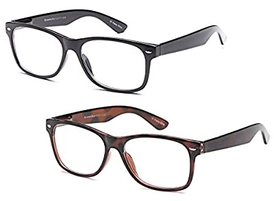 GAMMA RAY READERS 3 Pairs Men's Readers Quality Spring Hinge Reading Glasses for Men