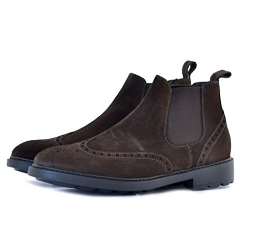Scarpe polacchini stivaletto Soldini uomo numero 40 19292MARRONE in camoscio marroni, man boots shoes brown suede