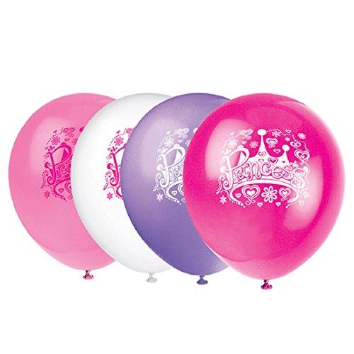 """12"""" Latex Princess Diva Balloons, 8ct - 1"""