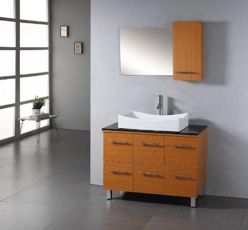 Unique Virtu USA MS Viola Inch Single Sink Bathroom Vanity with Black Tempered