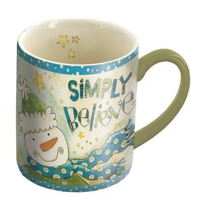 Lang Simply Believe Mug By Karen H. Good, 14-Ounce, Multicolor