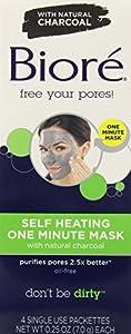 Biore Self Heating One Minute Mask, 4 Count