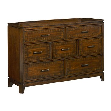 Standard Furniture Avion 7 Drawer Dresser in Cherry & Walnut