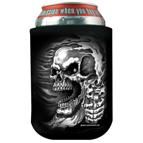 Hot Leathers BVK1023 Black OSFM 'Assassin Beer' Can Wrap (Atv Beer Holder compare prices)