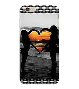ColourCraft Love Design Back Case Cover for APPLE IPHONE 6 PLUS
