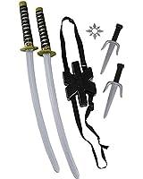 Ninja Double Sword Toy Weapon Backpack