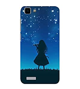 ifasho Girl playing violin Back Case Cover for VIVO Y27