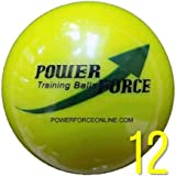 "Power Force Training Power Force ProGrade: 3. 25"" Dia. 15oz - Weighted Heavy Softballs For Batting"