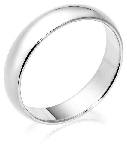 10k White Gold 5mm Traditional Men's Wedding Band
