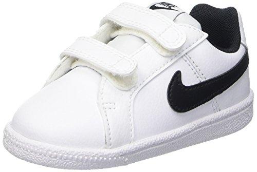 Nike Court Royale Tdv Scarpe Walking Baby, Bambino, Multicolore (Bianco/Nero), 25