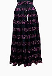 COTTON BREEZE Women's Cotton Skirt (Black)