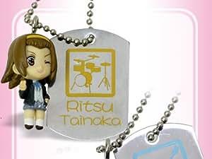 K-On! Little Mascot Dog Tag Schlüsselanhänger: Ritsu Tainaka (School Outfit)