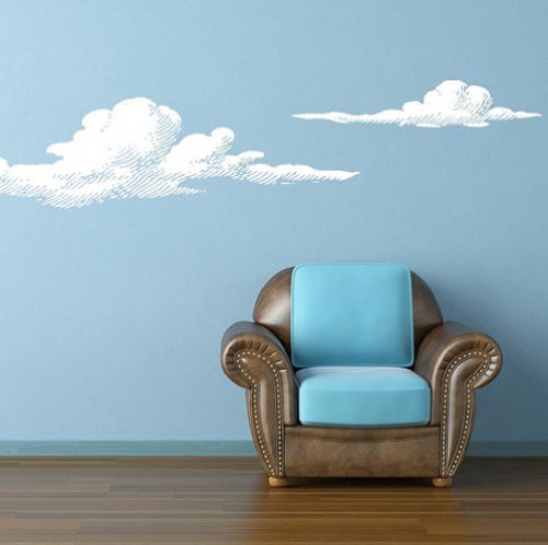 Wall Vinyl Sticker Decals Decor Art Bedroom Design Mural Set of 2 Cloud (Z826)