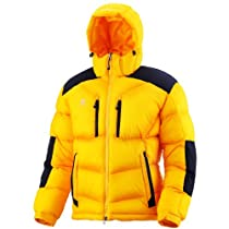 Fuerza Mens Winter Down Wellon Collection Hooded Dynamic Parka Jacket in Yellow (Small, Yellow)
