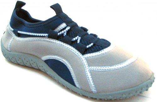 Aquatik Men and Women Aqua Water Shoes Beach Shoes with Lace fit System AD2280L Women 9 Navy