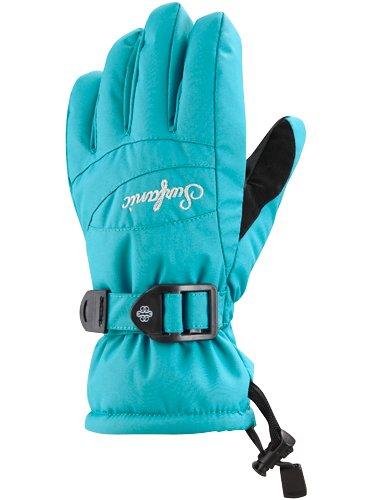 Surfanic Girls Core Ski Gloves Turquoise Blue