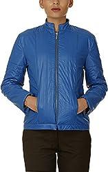 Baba Rancho Women's Regular Fit Jacket (Lj 00217_S, Blue, S)