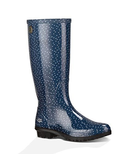 UGG Australia Women's Shaye Dots Blue Rubber Boot 7 M US