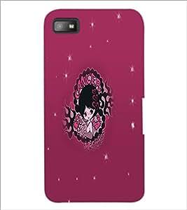 PrintDhaba Zodiac Cancer D-5612 Back Case Cover for BLACKBERRY Z10 (Multi-Coloured)