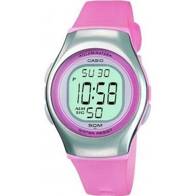 Casio Pink Digital Ladies Watch  LW-E11-4AVES