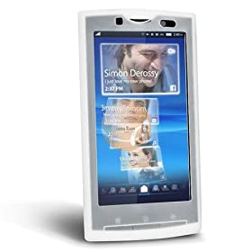 Silicone Skin Case for Sony Ericsson Xperia X10, Clear White: Electronics