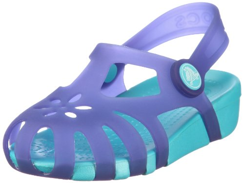 Crocs Shirley Sandal (Toddler/Little Kid),Ultraviolet/Aqua,3 M US Little Kid/ 5 M US Women's