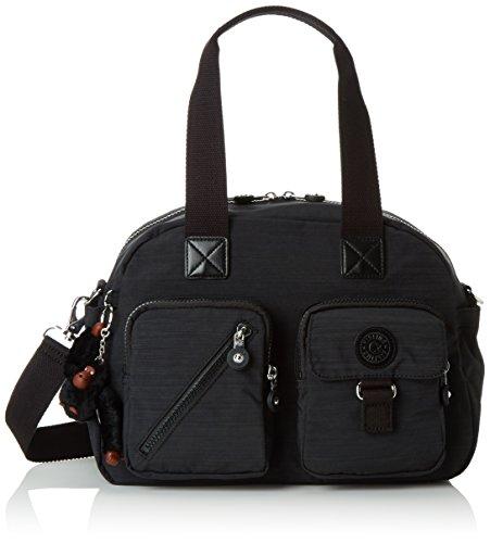 kipling-damen-defea-henkeltasche-schwarz-dazz-black