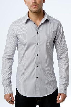 Men's Slim Fit Dress Shirt, Blue, Small
