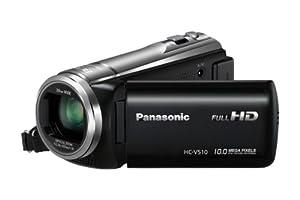 Panasonic HC-V510EG-K Camcorder (7,6 cm (3 Zoll) Touchscreen MOS-Sensor, 10 Megapixel Foto Auflösung , Full HD, 50-fach opt. Zoom, USB 2.0) schwarz