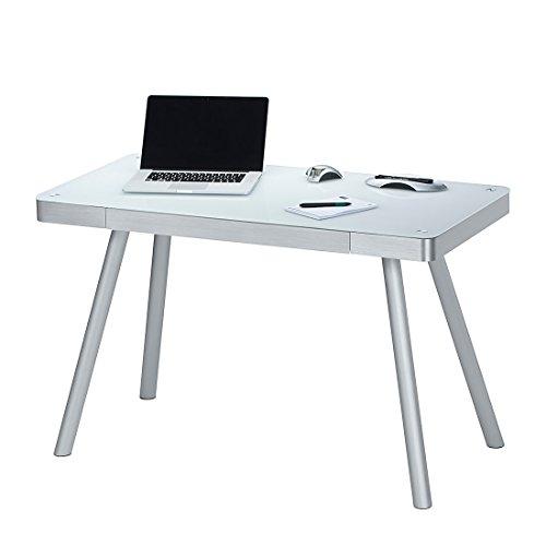 Maja-50009446-Schreib-und-Computertisch-1202-x-730-x-600-mm-Metall-Alu-Weiglas