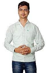 Relish Men's Checkered Casual Blue Shirt
