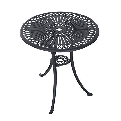 Outsunny 3 Piece Antique Style Outdoor Patio Bistro Dining Set - Black 3