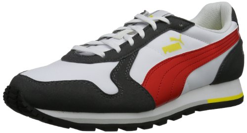 Puma Unisex - Adult ST-Runner Low Gray Grau (glacier gray-high risk red 01) Size: 42.5