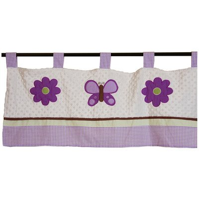 Lavender Butterfly Curtain Valance front-671264
