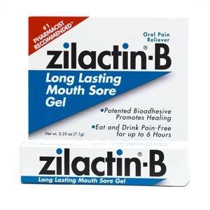 Zilactin B Long Lasting Mouth Sore Gel - 0.25 Oz(pack of 2)