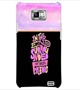 PrintDhaba Quote D-3322 Back Case Cover for SAMSUNG GALAXY S2 (Multi-Coloured)