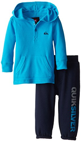 Quiksilver Baby-Boys Infant Thermal Blue Hoody With Pull On Pants, Blue, 24 Months front-706883