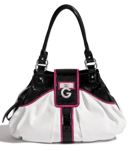 G by GUESS Youra Tote, WHITE
