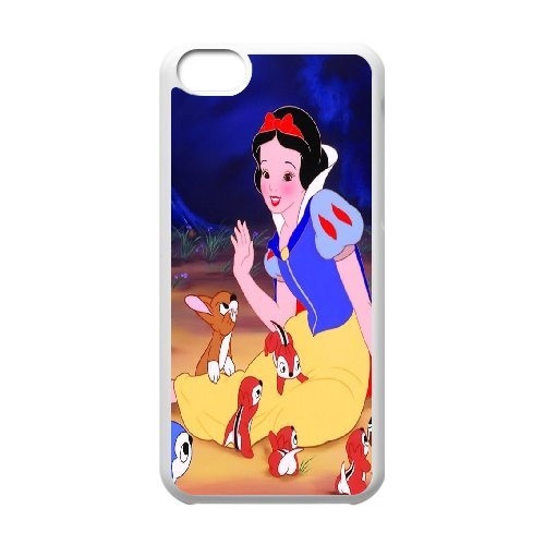 [H-DIY CASE] For Iphone 5c -Snow White Holding Apple-CASE-16