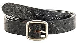 Garvan Women's Black Leather Belt (LBW 9-Black, Size : 30)