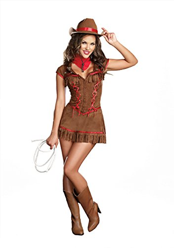 Dreamgirl Giddy Up Costume, Brown, Small (Sexy Cowgirl Lingerie)