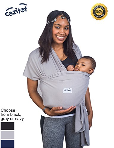 Why Choose Grey Baby Wrap Carrier Sling by Cozitot® | Soft and Stretchy Baby Carrier | Baby Sling C...