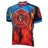 World Jersey's American Firefighter Short Sleeve Cycling Jersey