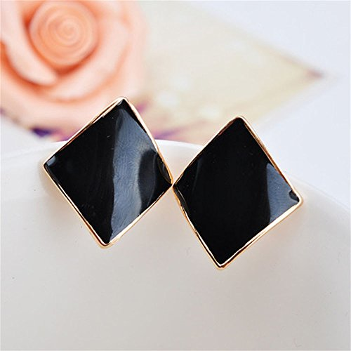 korea-jiaen-18k-rose-gold-plated-candy-colored-geometric-earring-diamond-shaped-spiral-ear-clip-blac