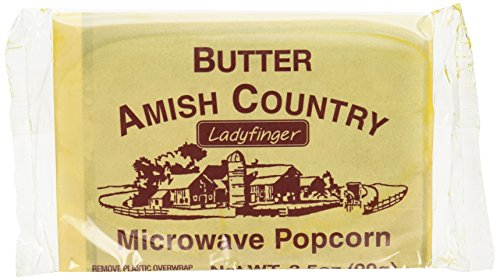 Amish Country Microwave Popcorn 10 Ladyfinger Butter Flavor (Amish Popcorn Butter compare prices)