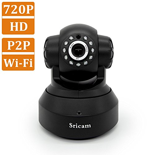 Wireless-CamerasSricam-Baby-Monitor-and-Home-Security-CameraHDIP-CameraP2P-Network-Camera-Video-MonitoringVision-Motion-Detection-Memory-Card-Slot-PC-iPhone-Android-View