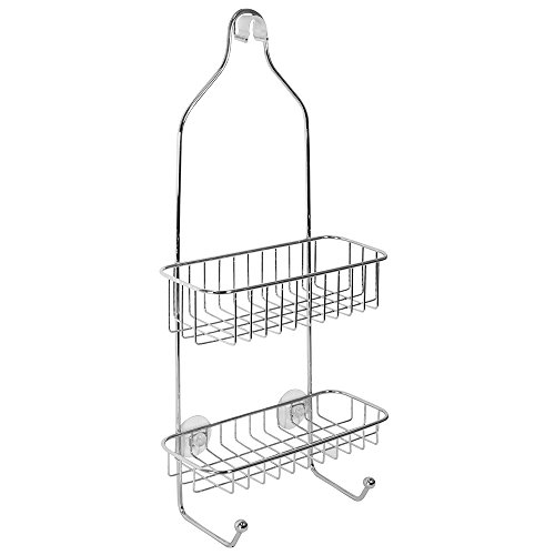 InterDesign Rondo Bathroom Shower Caddy for Shampoo, Conditioner, Soap - Polished Stainless Steel (Soap Dispenser Shower Head compare prices)