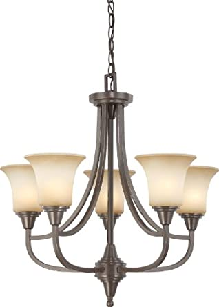 Nuvo Lighting 60 4166 Five Light Surrey Chandelier with